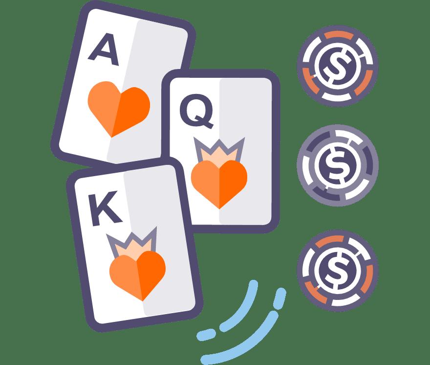 39 parimat Online Casinot, mille mängude hulgas on 2021. aastal Kolme kaardi pokker