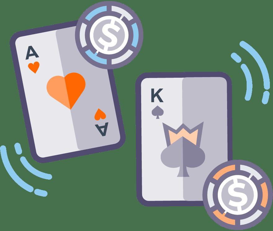 6 parimat Online Casinot, mille mängude hulgas on 2021. aastal Casino War